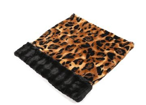 Big Cat With Black Mink Cuddle Pouch - Puptoria