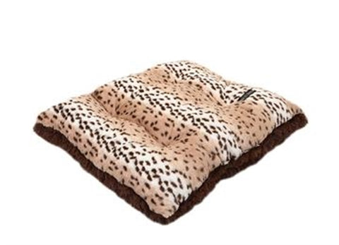 Snow Leopard With Chocolate Shag Pillow Bed