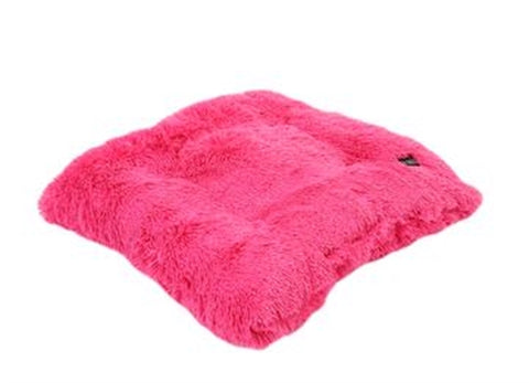 Hot Pink Shag Pillow Bed - Puptoria