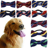 Classic Stripe  Dog Bow Tie Collar Adjustable - Puptoria