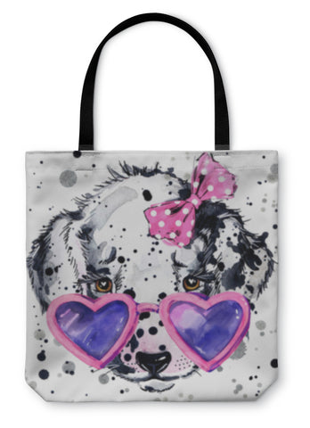 Tote Bag, Dalmatian Puppy With A Splash