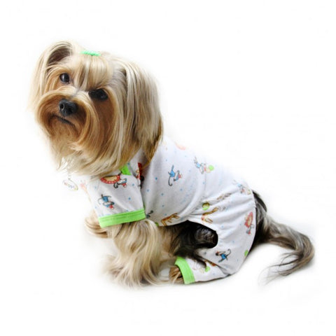 Party Animals Knit Cotton Pajamas - Puptoria