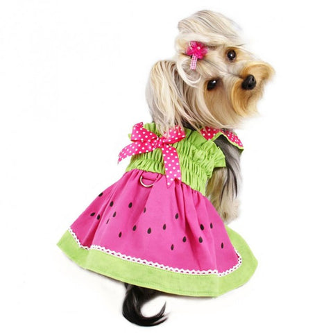 Juicy Watermelon Sundress with Large D-ring - Puptoria
