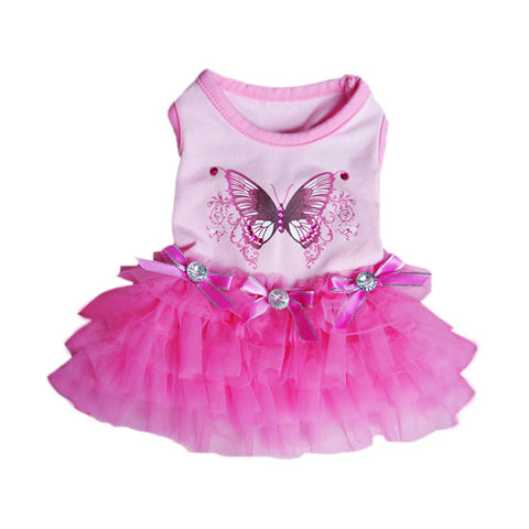 Butterfly Party Dress - Puptoria
