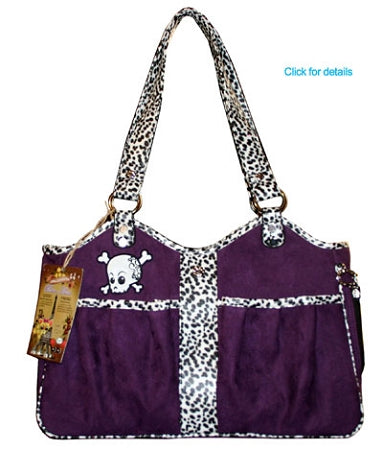 Bone Ami Airline Pet Carrier Purple Skully - Puptoria