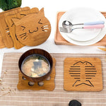 Wooden Cat Coasters