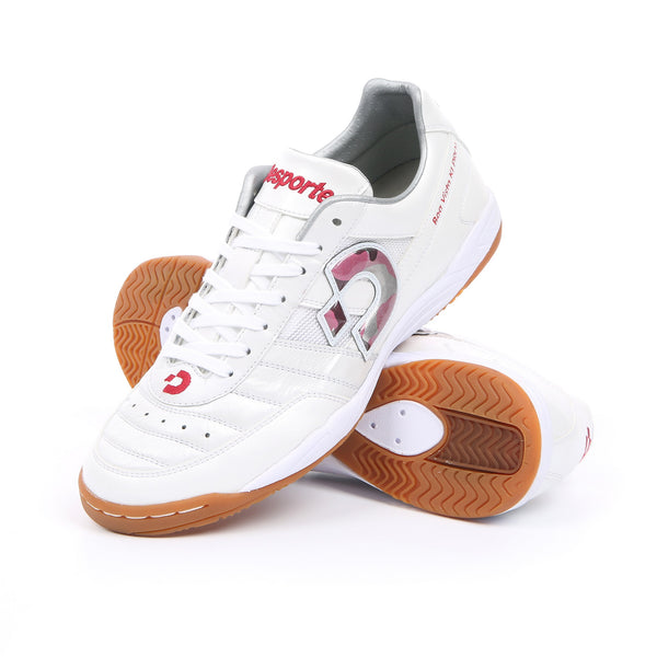 Desporte Boa Vista KI PRO1 Futsal Shoes, White/Red-Camouflage