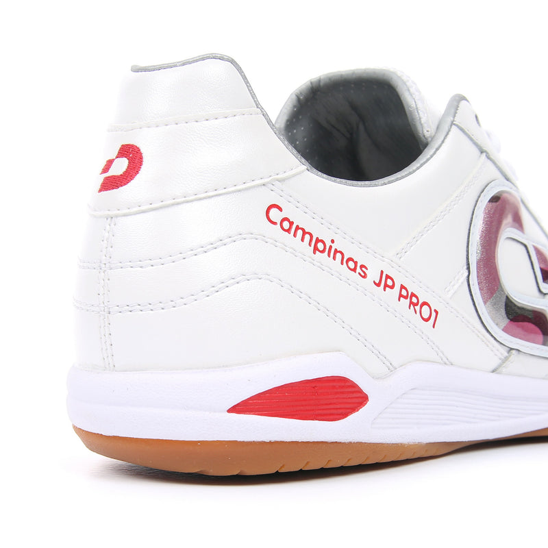 Desporte Campinas JP PRO1 DS-1730 White/Red-Camo futsal shoes - heel counter