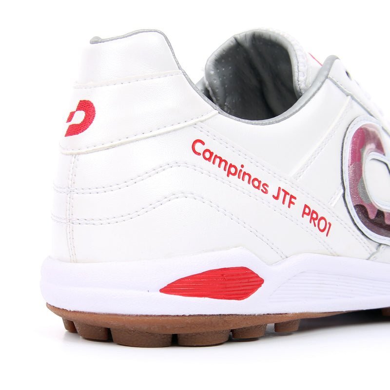 Desporte Campinas JP PRO1 DS-1740 White/Red-Camo turf shoe - heel counter
