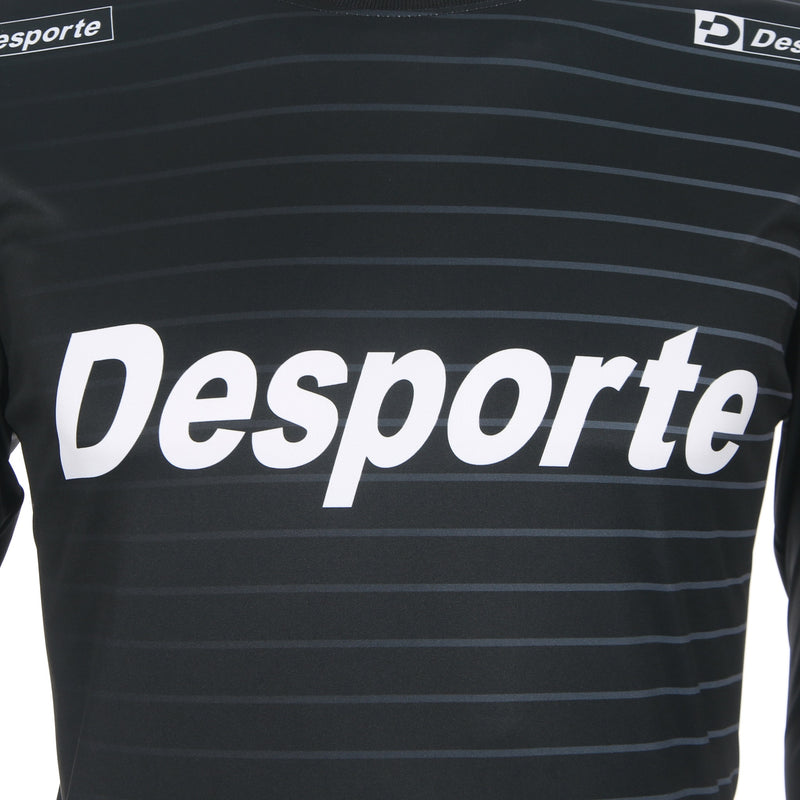 Desporte Long Sleeve Practice Shirt, DSP-BPS-22L, Black, Chest Logo