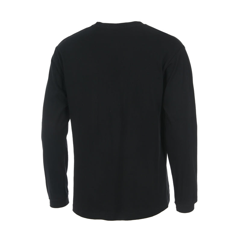 Desporte Long Sleeve 100% Cotton T-Shirt, DSP-T43L, Black, Back View