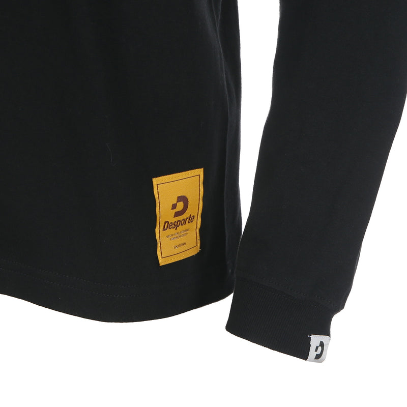 Desporte Long Sleeve 100% Cotton T-Shirt, DSP-T43L, Black, Logo Tag