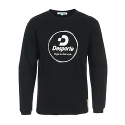 Desporte Long Sleeve 100% Cotton T-Shirt, DSP-T43L, Black