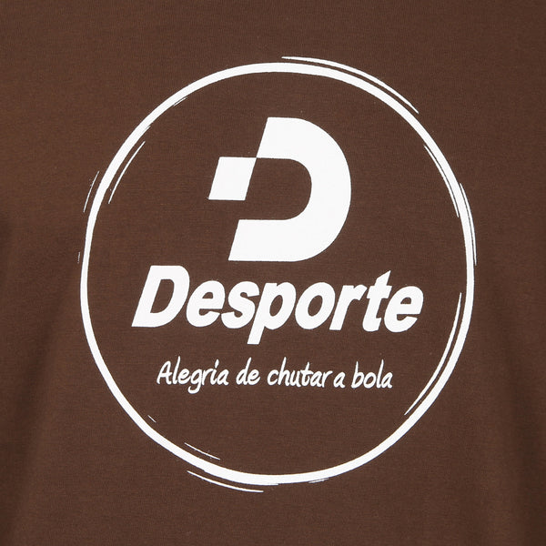 Desporte Long Sleeve 100% Cotton T-Shirt, DSP-T43L, Brown, Front Logo