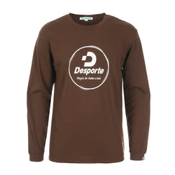 Desporte Long Sleeve 100% Cotton T-Shirt, DSP-T43L, Brown