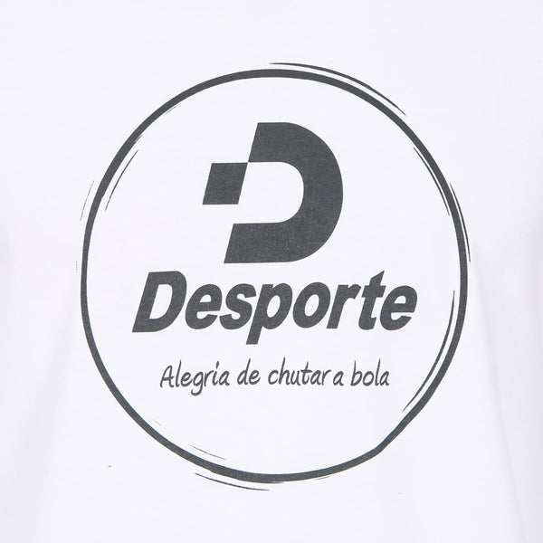 Desporte Long Sleeve 100% Cotton T-Shirt, DSP-T43L, White, Front Logo