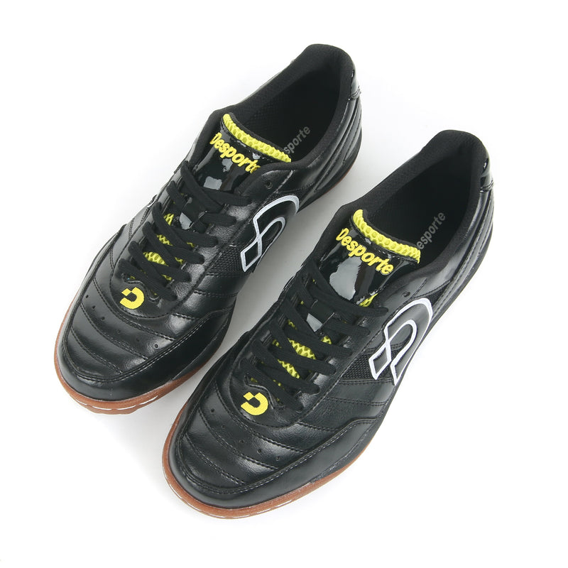 Desporte Sao Luis ST2 black/yellow turf shoes - synthetic leather upper