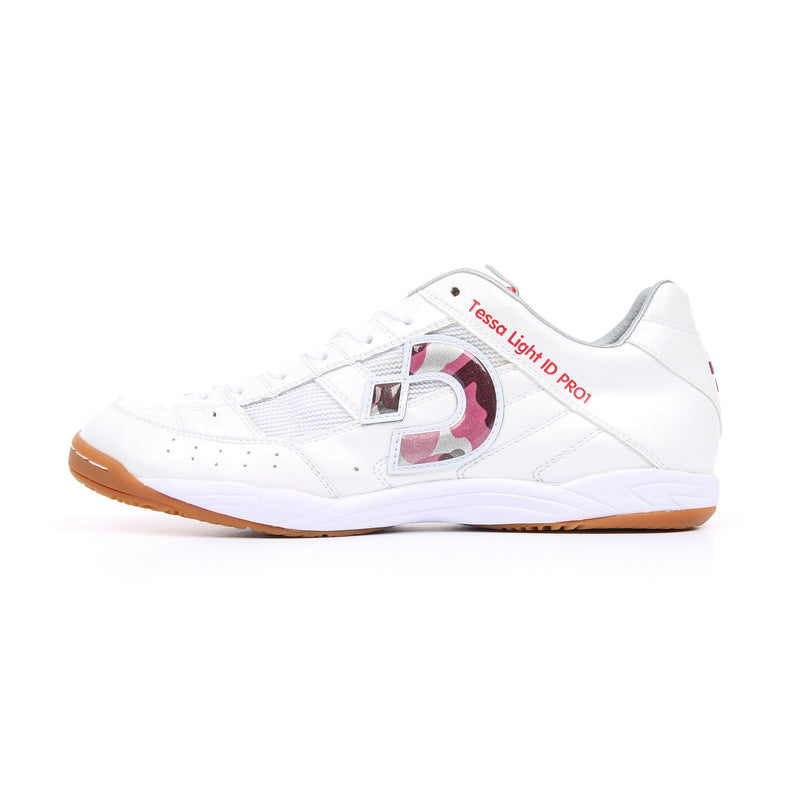 Desporte Tessa Light ID PRO1 Futsal Shoes, White/Red-Camouflage