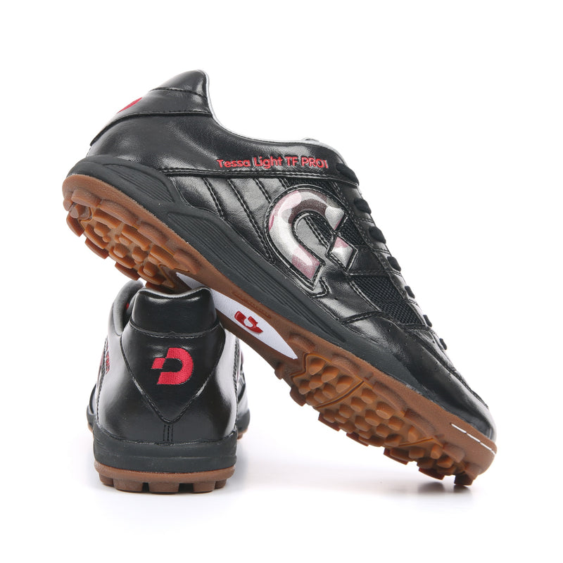 Desporte Tessa Light TF PRO1 Turf Shoes, Black/Red-Camouflage