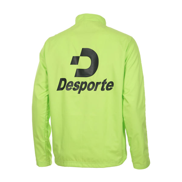Desporte Half Zip Windshirt, Lime, Back Logo