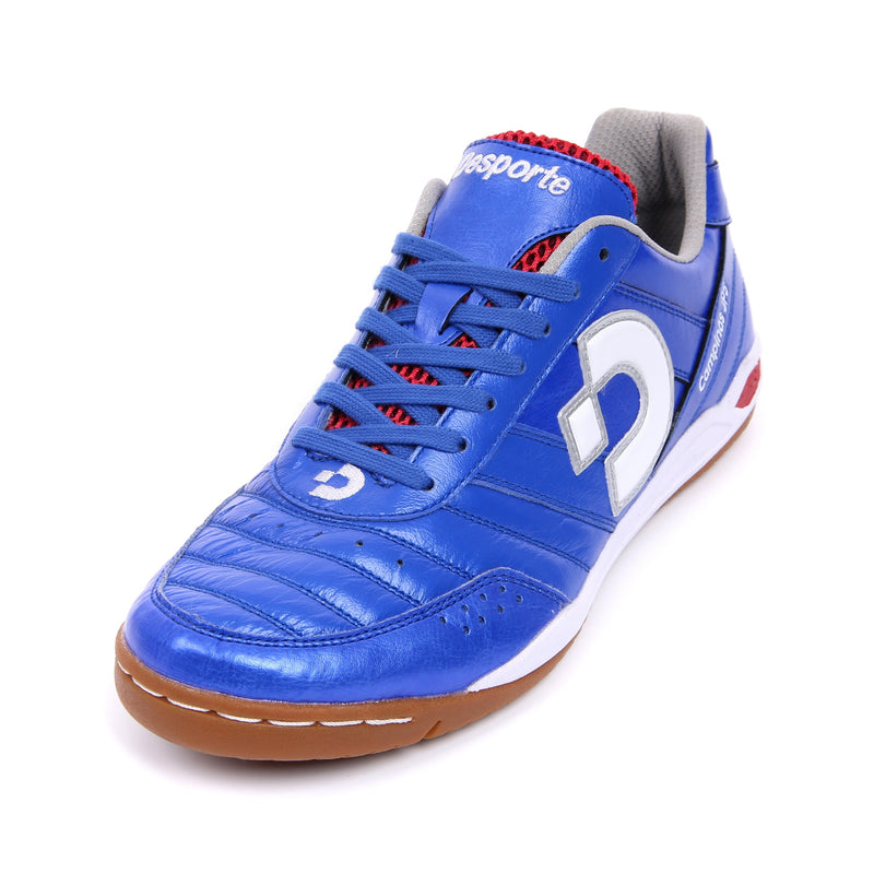Blue kangaroo leather Desporte Campinas JP5 futsal shoe