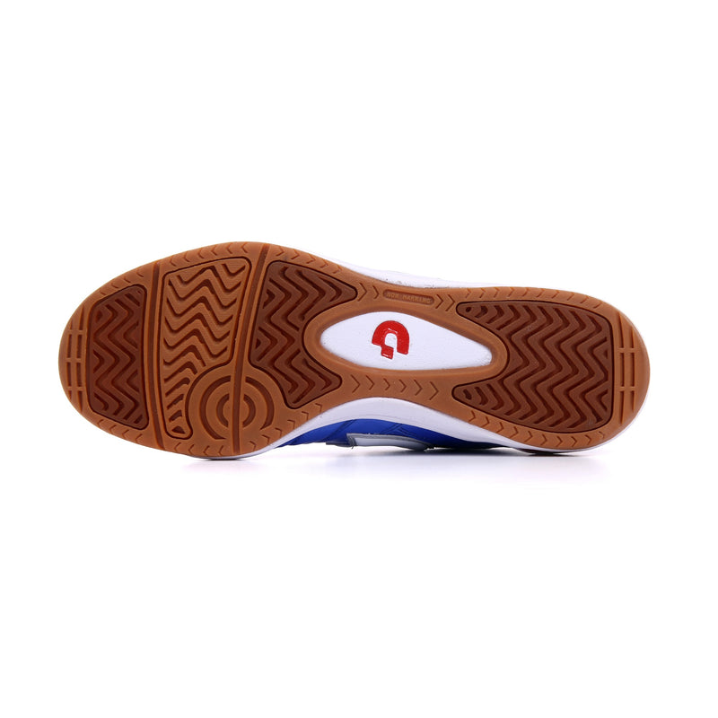 Rubber outsole of a blue Desporte Campinas JP5 futsal shoe