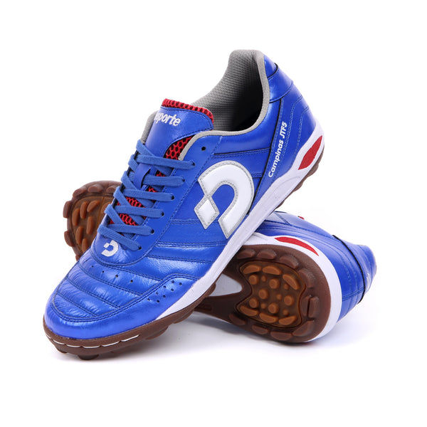 Blue Desporte soccer turf shoes