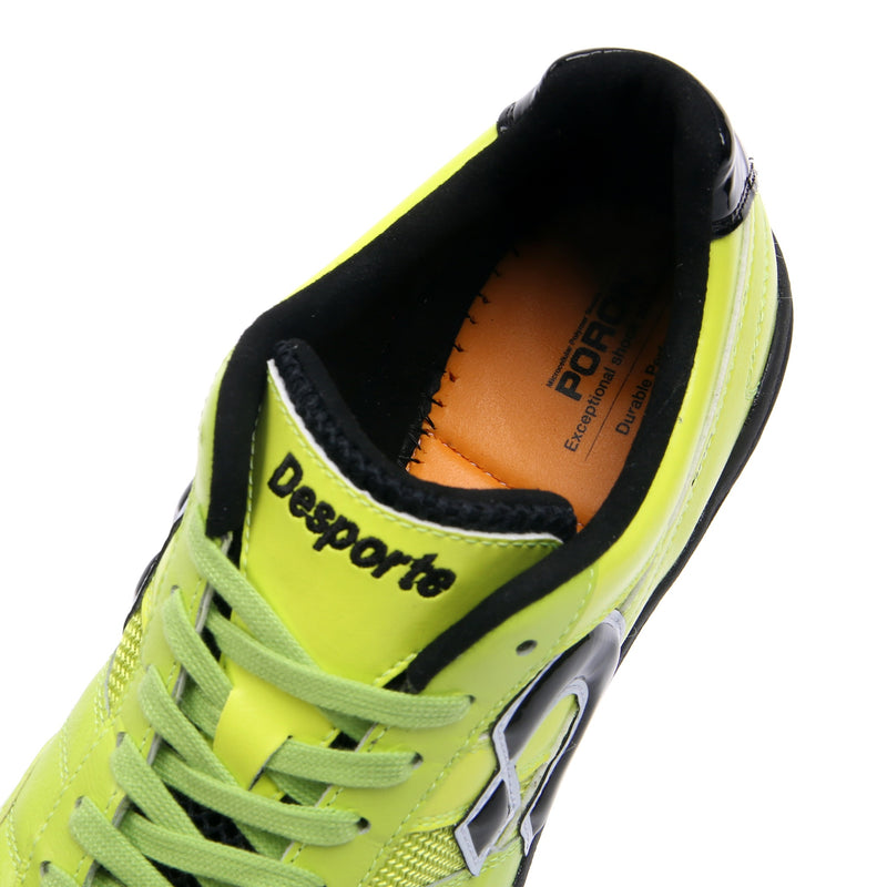 Chartreuse green Desporte Sao Luis KT2 turf shoe powered by Poron memory foam