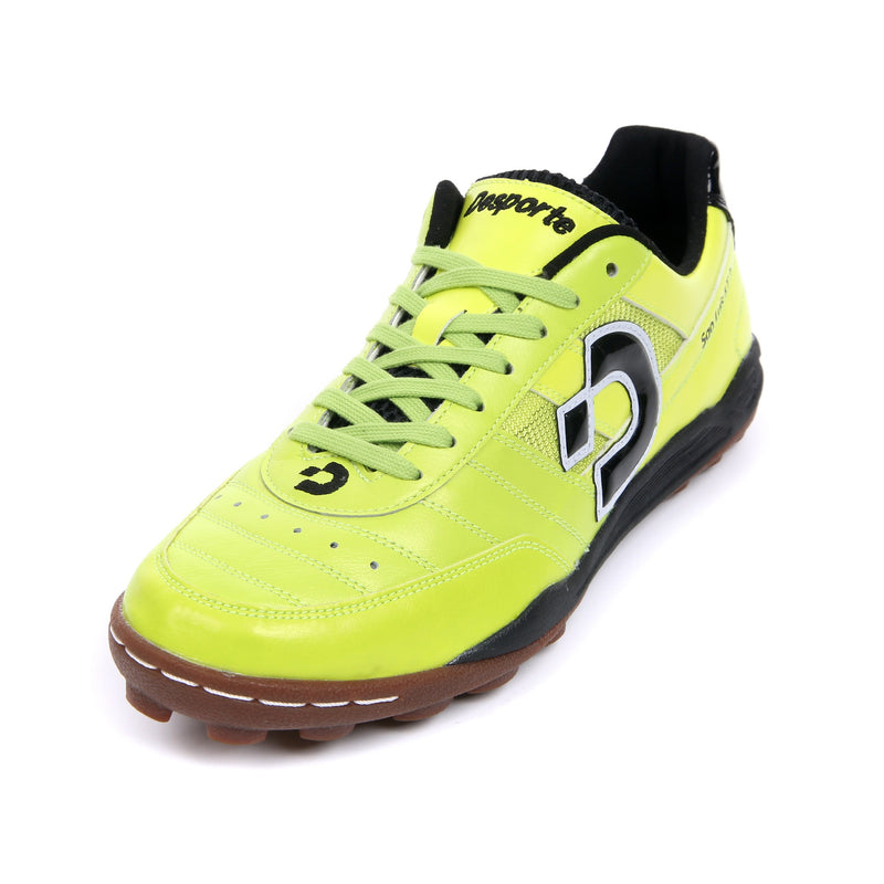 Chartreuse green Desporte Sao Luis KT2 turf shoe with kangaroo leather upper