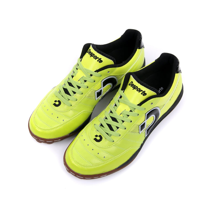Chartreuse green Desporte Sao Luis KT2 turf shoes from above