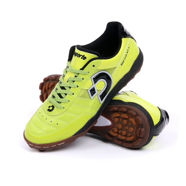 Chartreuse green Desporte Sao Luis KT2 turf shoes