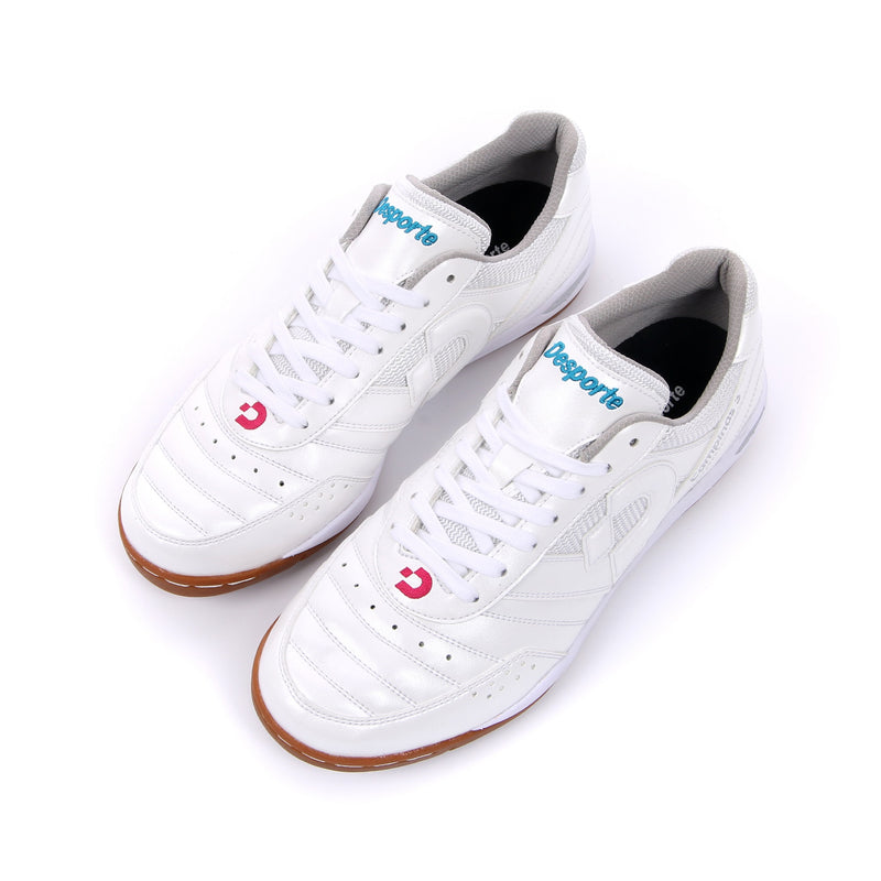 White Desporte futsal shoes from above