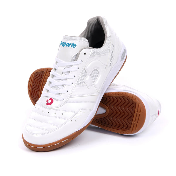 White Desporte futsal shoes