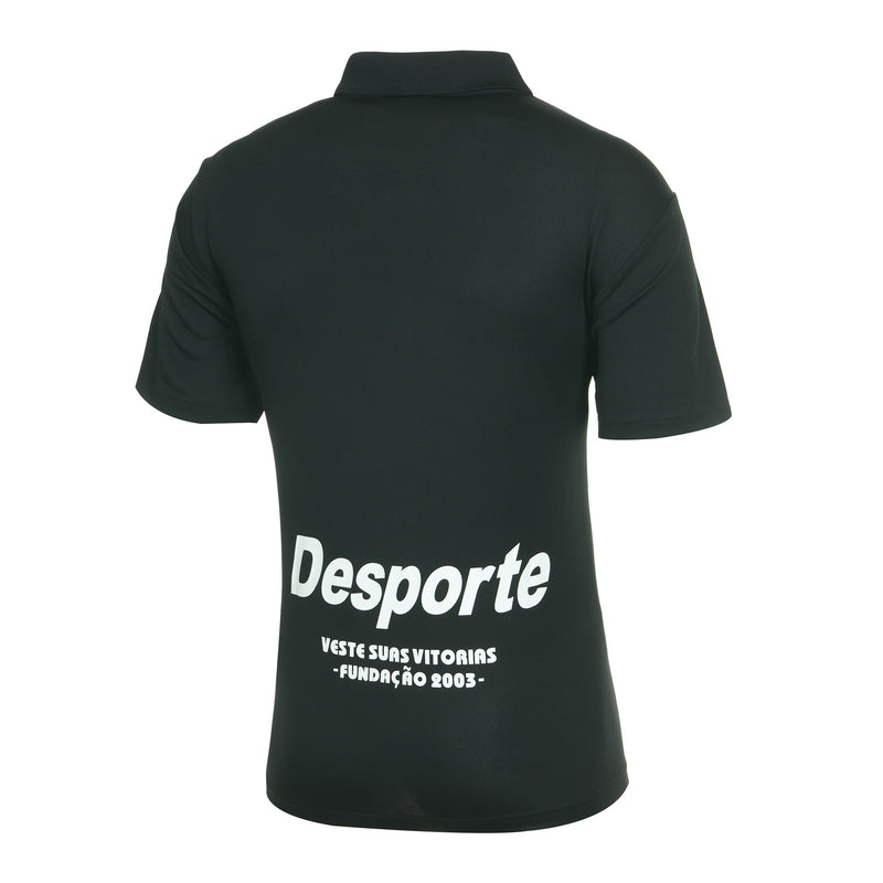 Desporte dry polo shirt, DSP-CP010, black, back view