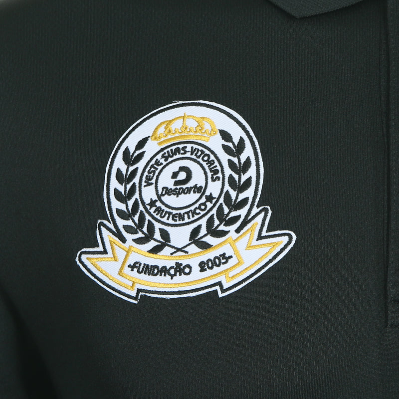 Desporte dry polo shirt, DSP-CP010, black, embroidered emblem