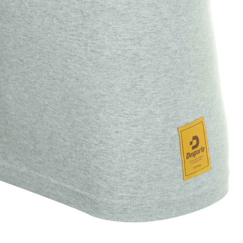 Desporte cotton heavyweight T-shirt, DSP-T42, gray, logo tag