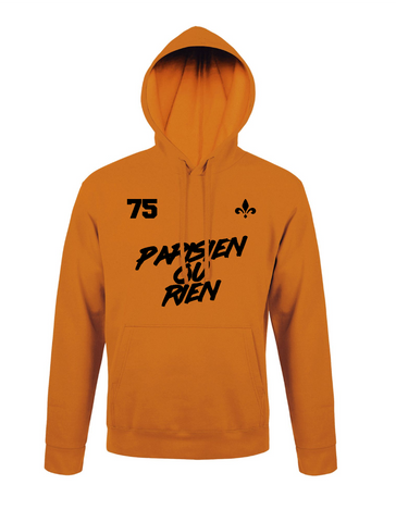 Sweat Capuche Parisien Ou Rien Orange