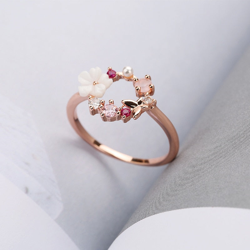 Crystal Flowers Ring