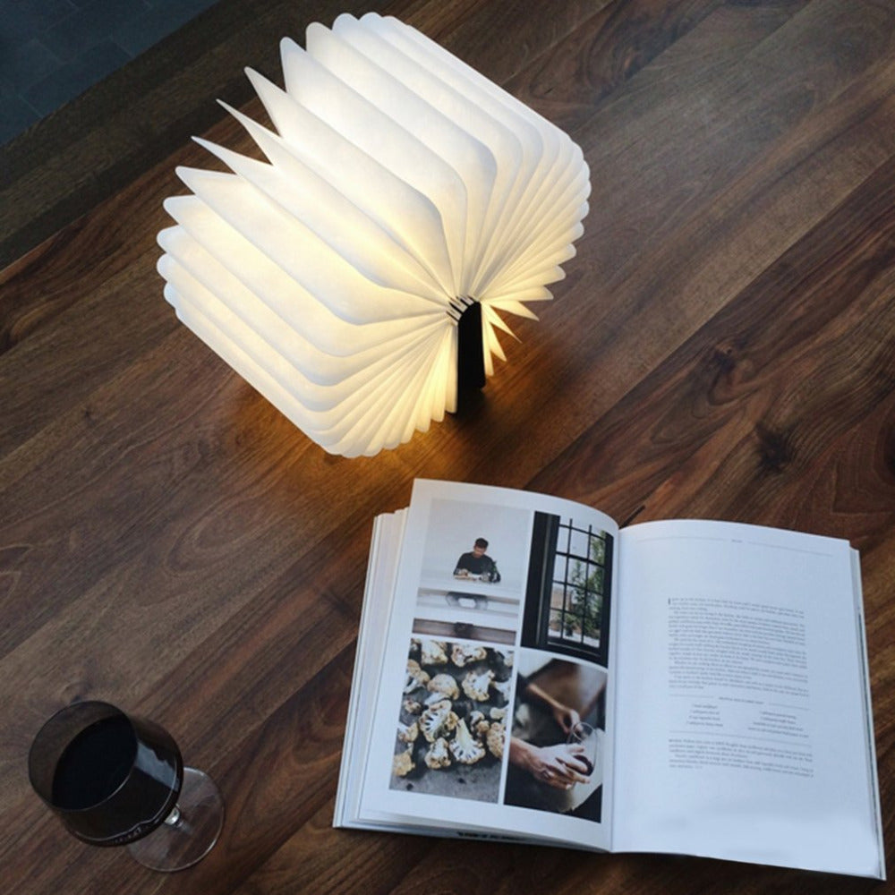 Wooden lamp Book