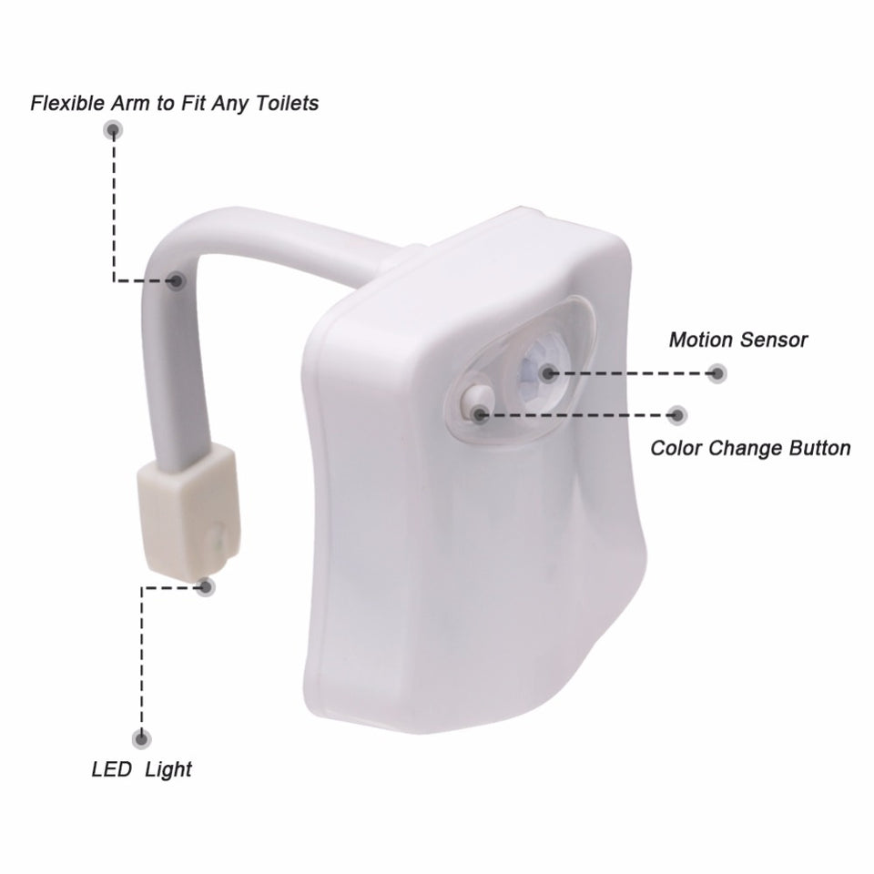 Toilet Led Night Light With Motion Sensor