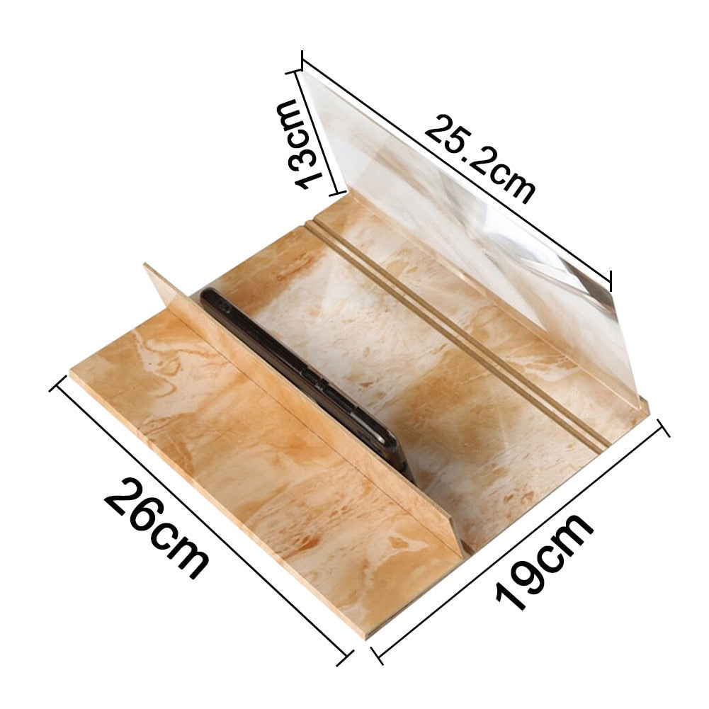 12 inch wooden Mobile Phone Screen Magnifier
