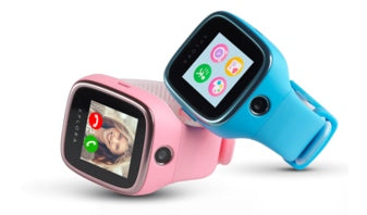 The blue and pink XPLORA 3S GPS Smartwatch for kids