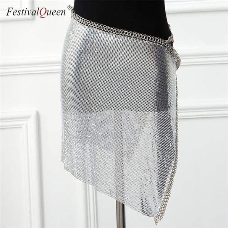 City Lights Sequin Set - Silver Bottom