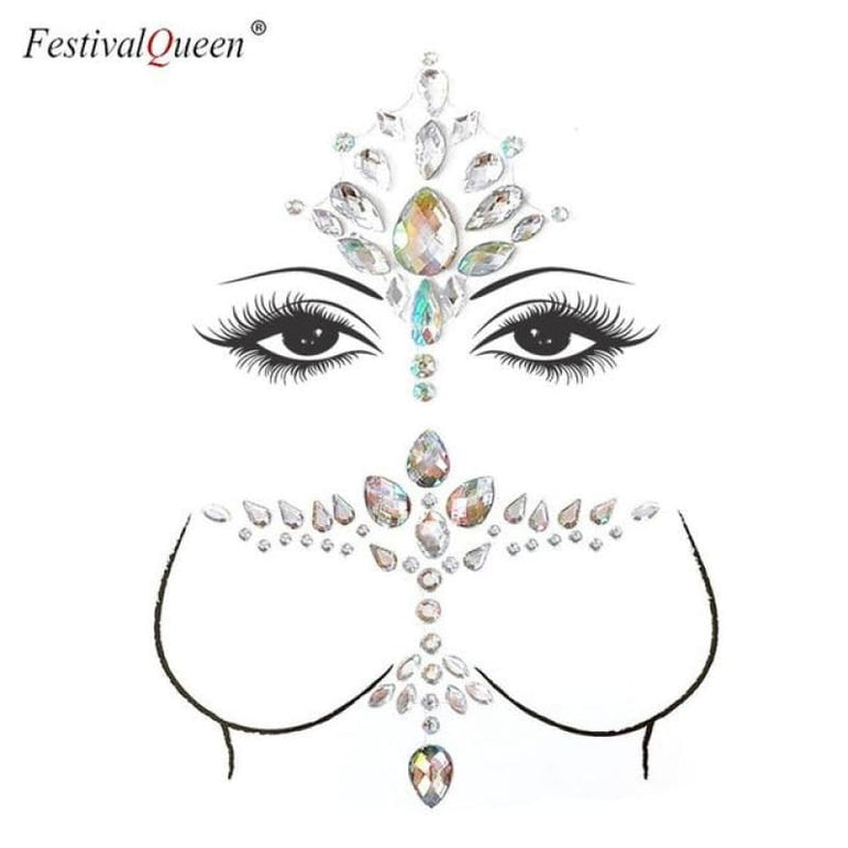 Face and Body Jewelry Stickers - 1