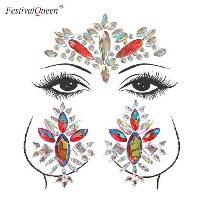 Face and Body Jewelry Stickers - 10