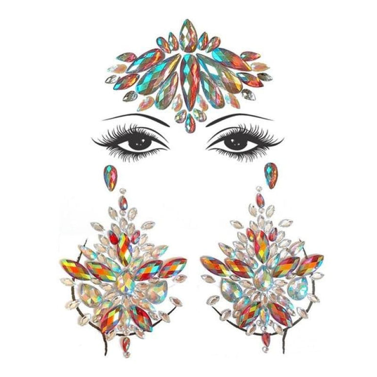Face and Body Jewelry Stickers - 12