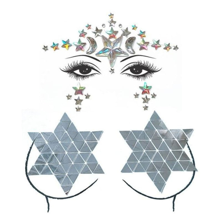 Face and Body Jewelry Stickers - 13
