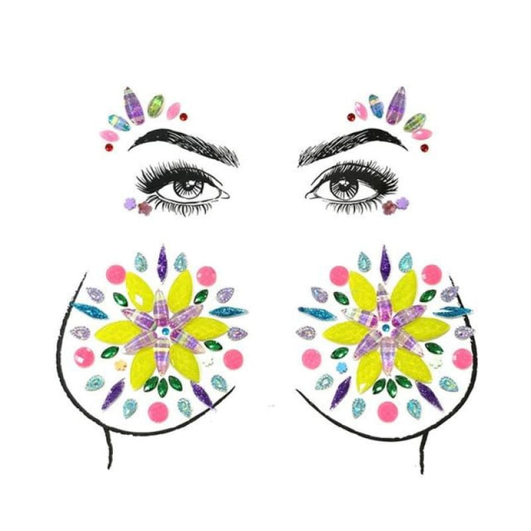 Face and Body Jewelry Stickers - 14