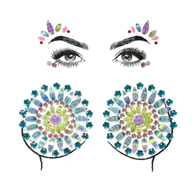 Face and Body Jewelry Stickers - 15