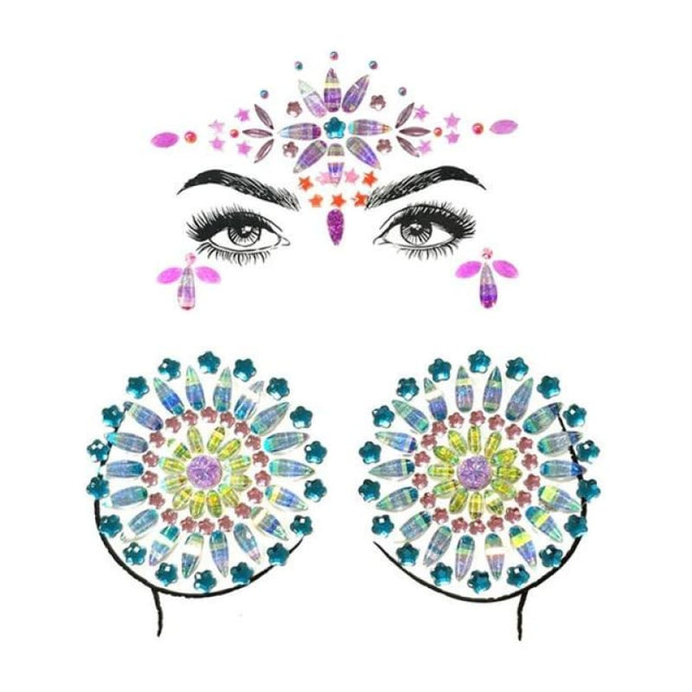 Face and Body Jewelry Stickers - 16